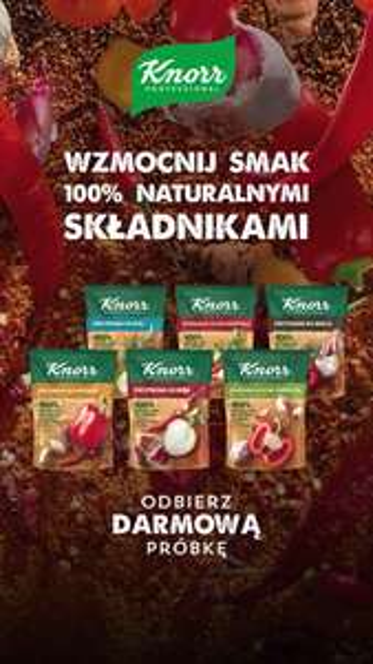 Zamów darmową próbkę przypraw Knorr - oferta dla firm