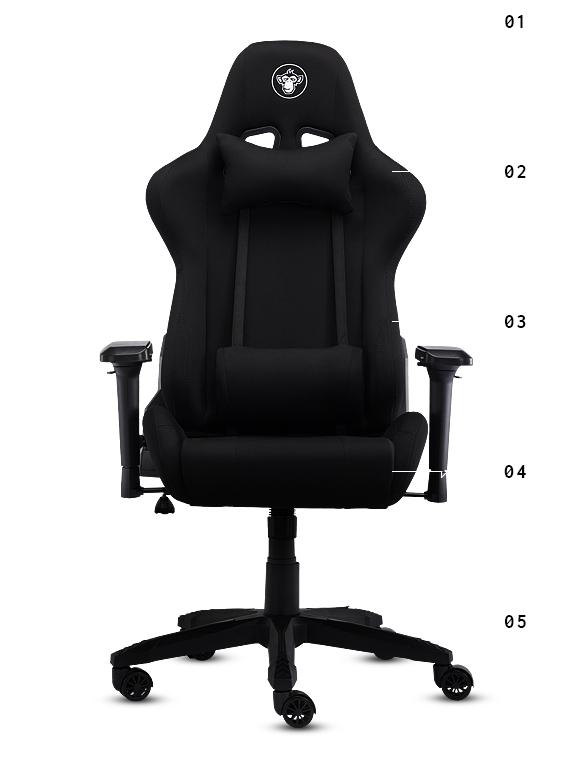 Fotel materiałowy Silver Monkey SMG-550 dla gracza i do biura z x-kom