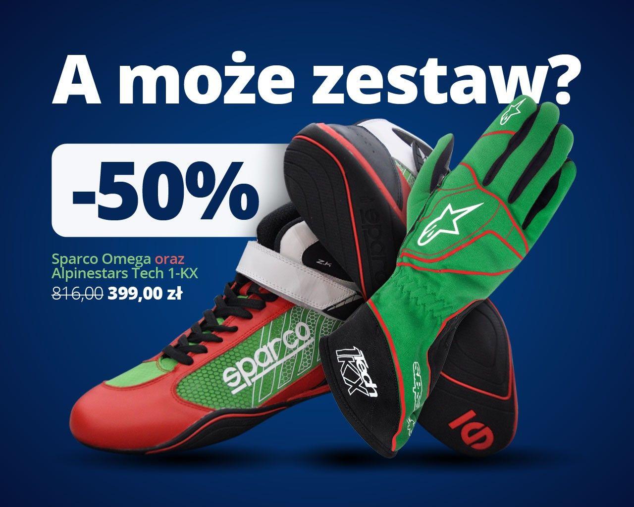 Rękawice alpine stars i buty sparco do kartingu/simracingu