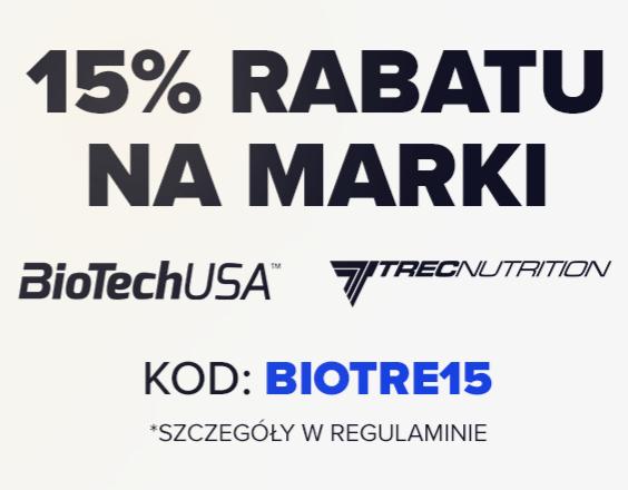 15% RABATU NA WSZYSTKO OD TRECA I BIOTECHUSA + 10 ZŁ ZNIŻKI NA CAŁY KOSZYK BODYPAK.PL