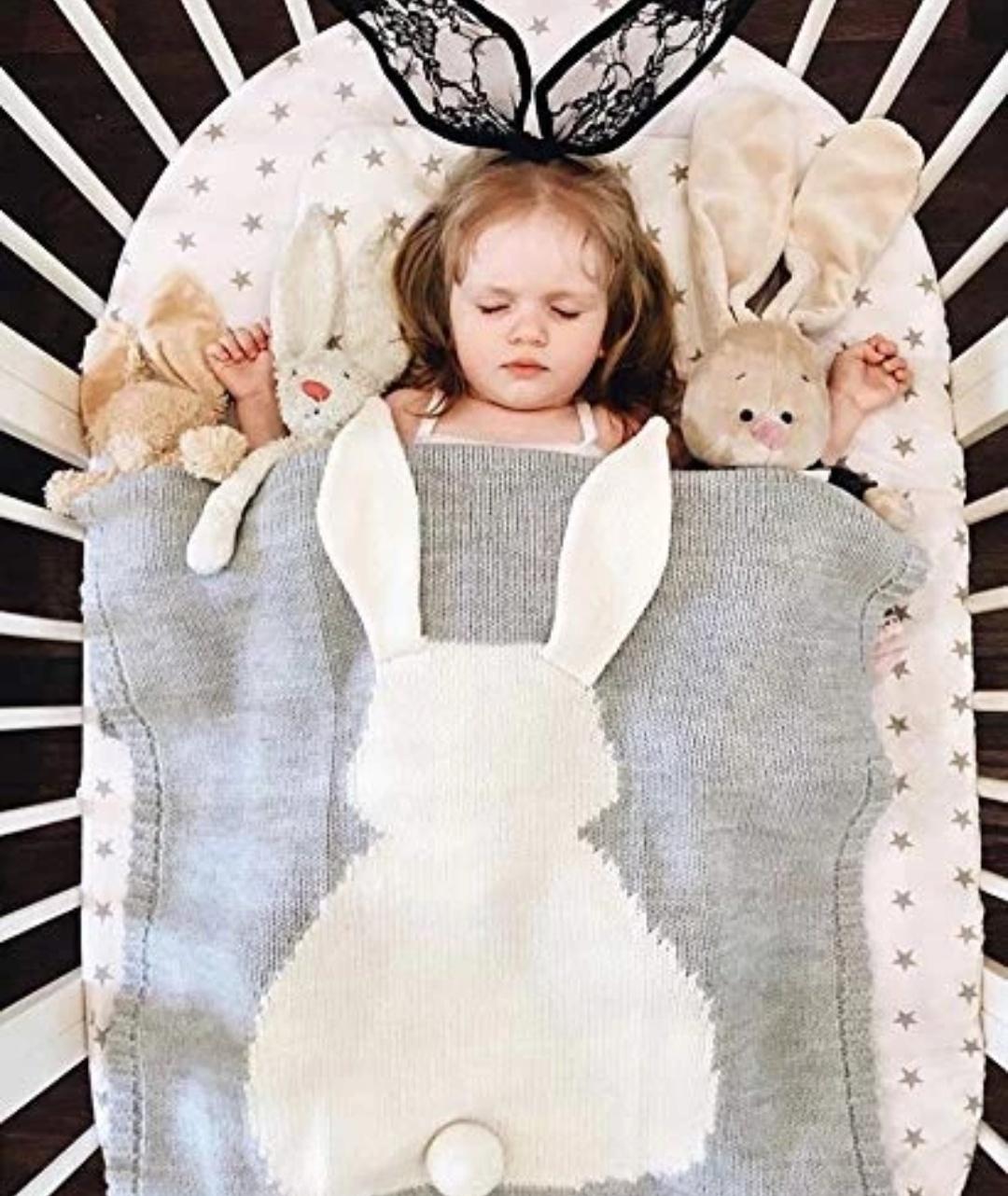 Kocyk dla dzieci w, kształcie królika