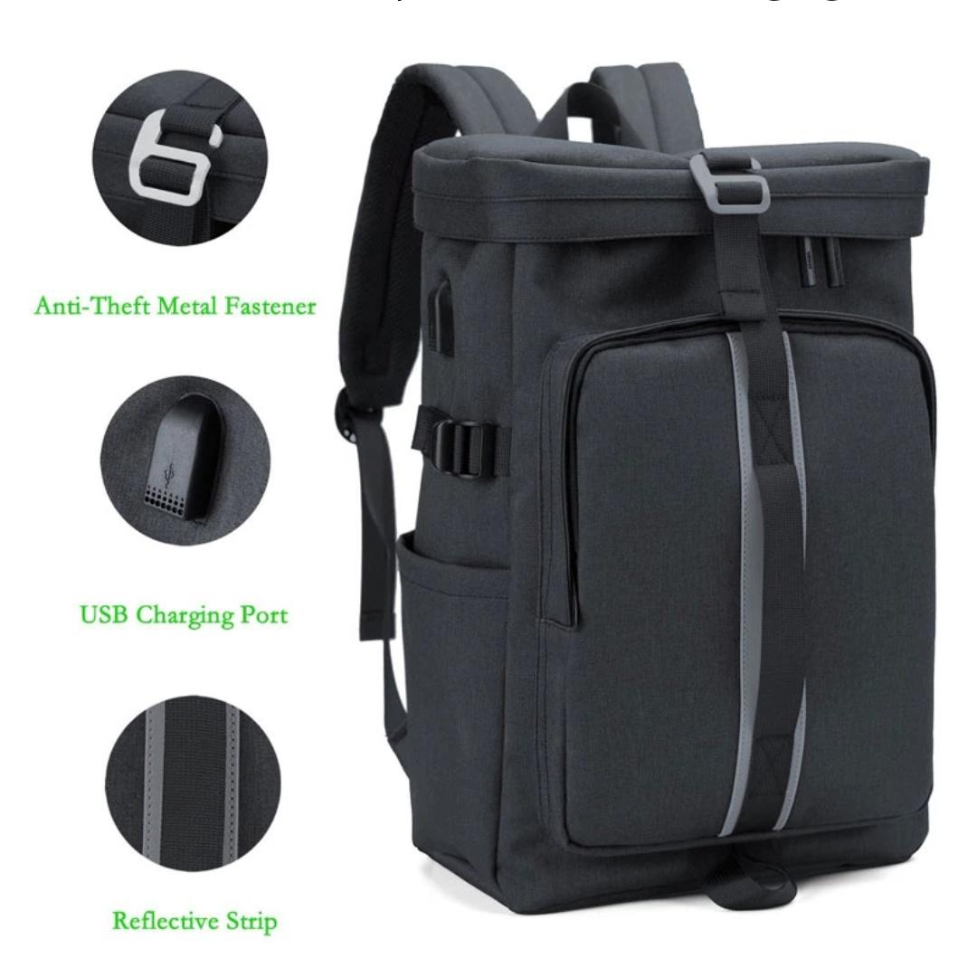 Plecak na laptopa anti-thief z portem USB do ładowania
