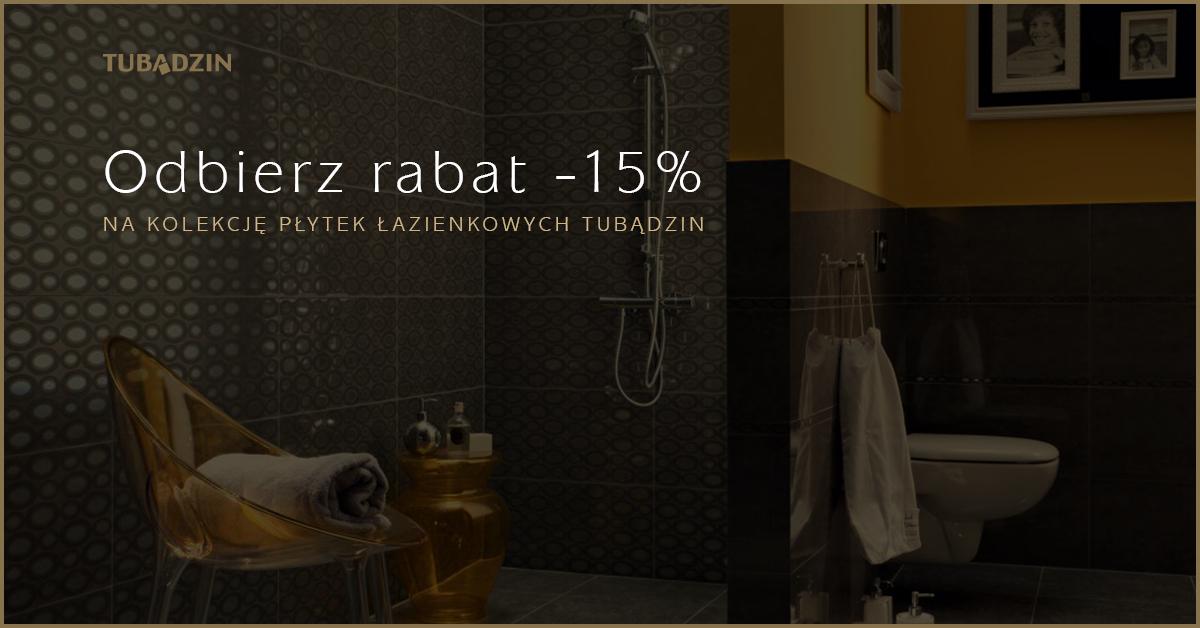 15% Zniżki na płytki łazienkowe Tubądzin