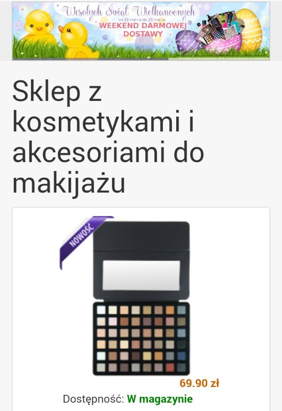Darmowa dostawa na wszystkie kosmetyki @ ladymakeup.pl