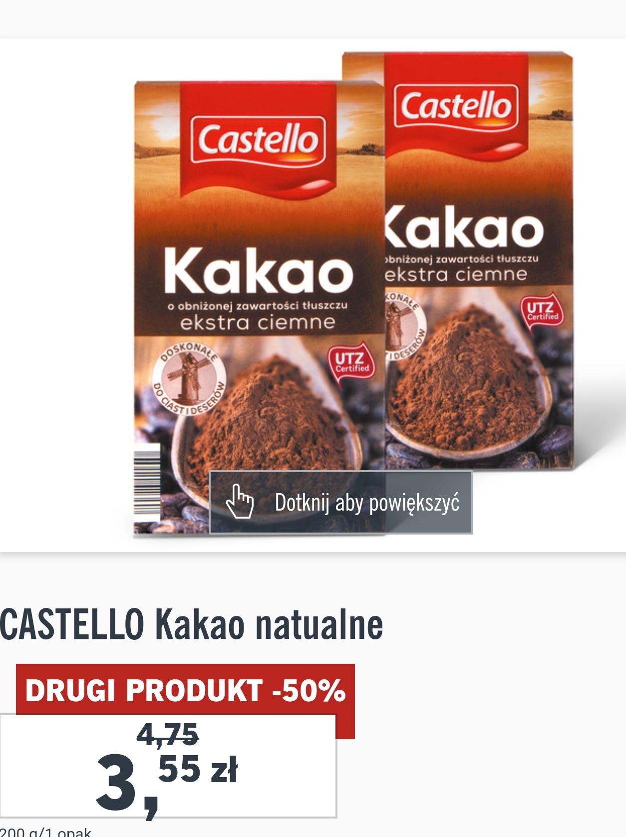 [Lidl] Castello Kakao naturalne za 3,55 przy zakupie 2szt.(-25%)