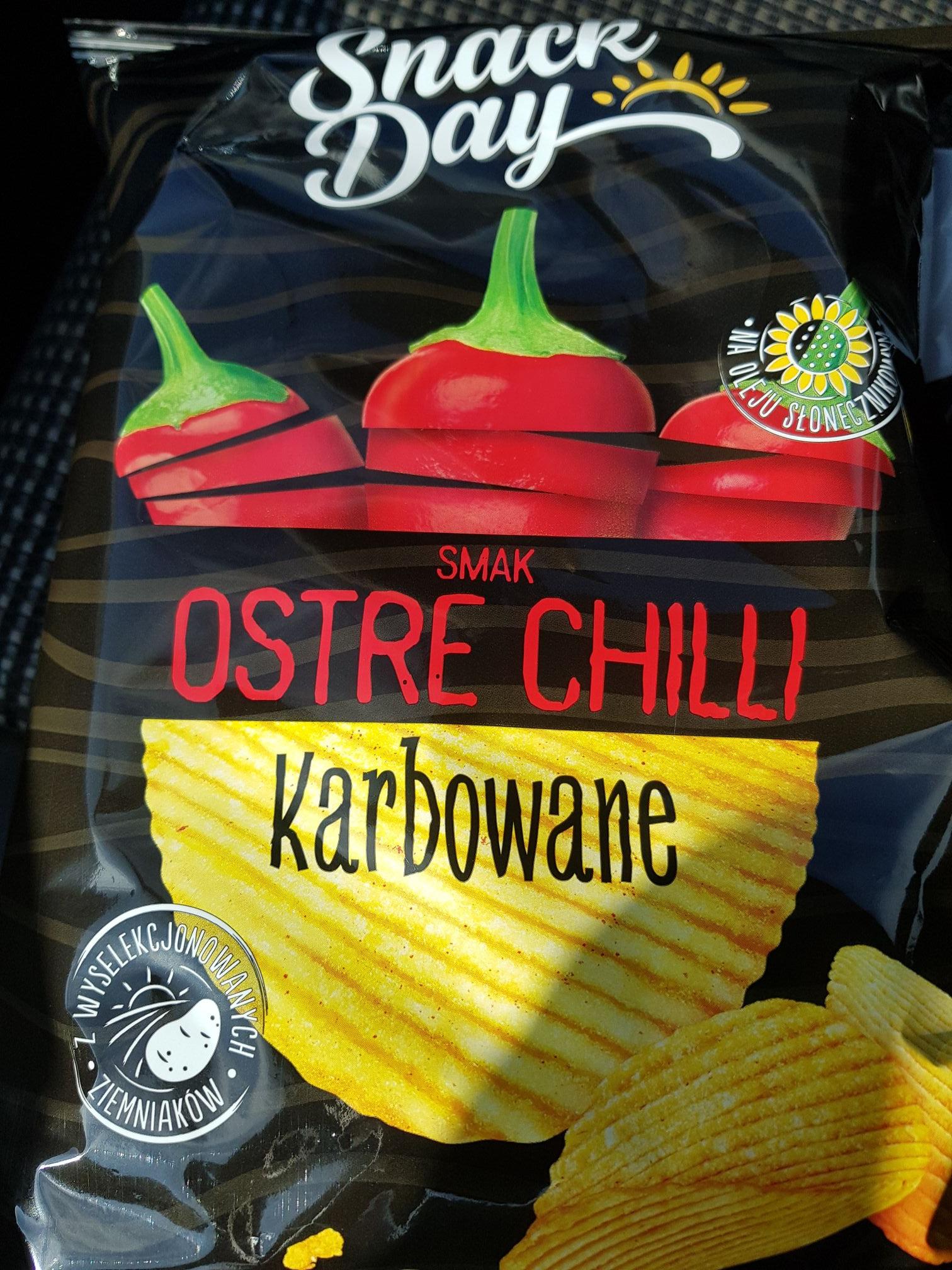 Chipsy Snack Day ostre chilli karbowane Lidl