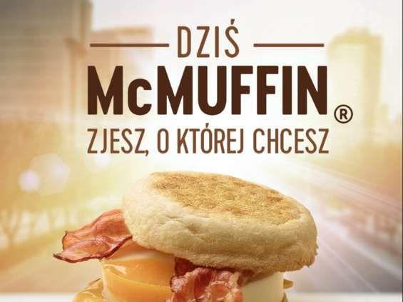 McMuffin jajko I bekon za 3 zł przez cały dzień 9.10 w McDonald's