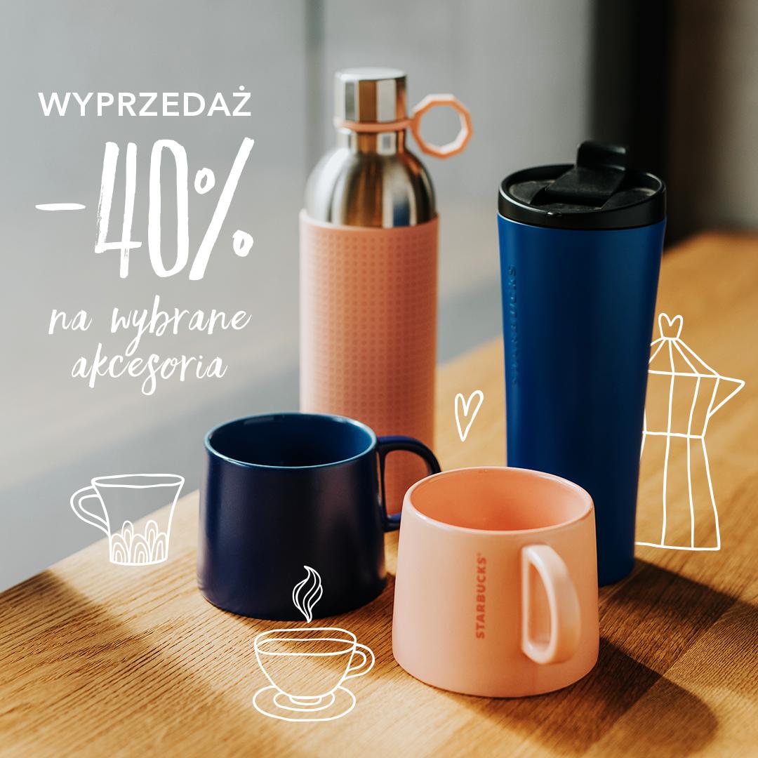 -40% na wybrane akcesoria w Starbucks np. kubki termiczne i ceramiczne