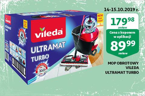 Mop płaski + wiadro Vileda Ultramat Turbo Auchan