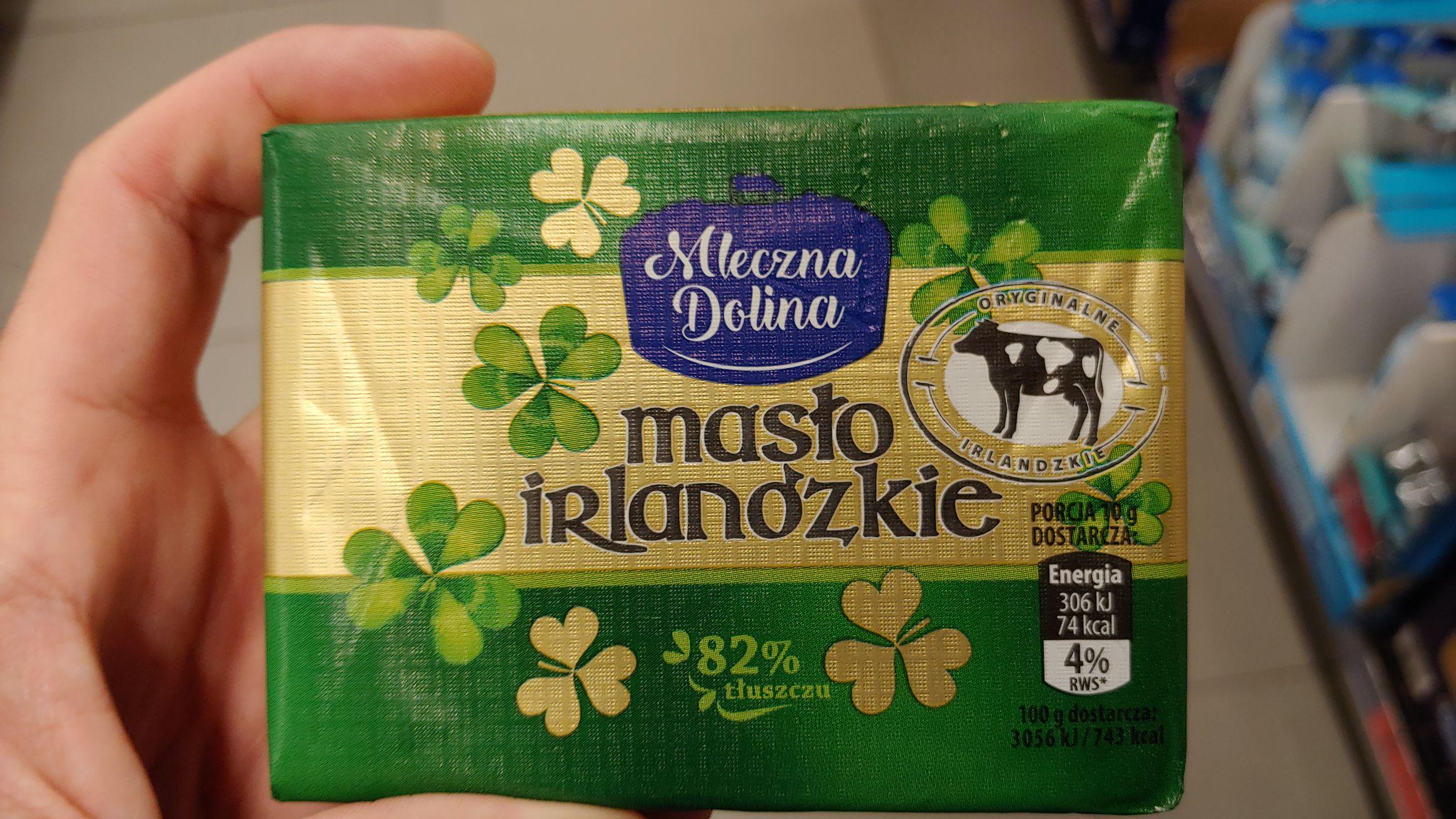 Masło Irlandzkie Biedronka 4,99 zł
