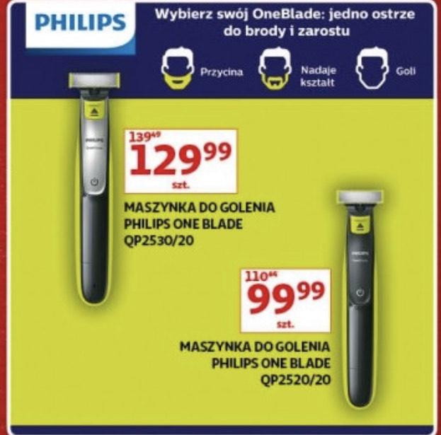 Maszynka do golenia Philips OneBlade QP2520/20 (99,99zł) oraz QP2530/20 (129,99zł) - Auchan