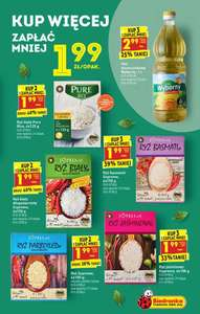 Ryż Supreme Basmati przy zakupie 3 opakowań 1.99zł - Biedronka