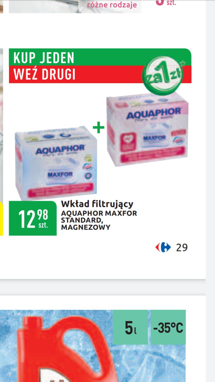 Filtr wklady filtrujace aquaphor maxfor standard, magnezowy 2szt Carrefour