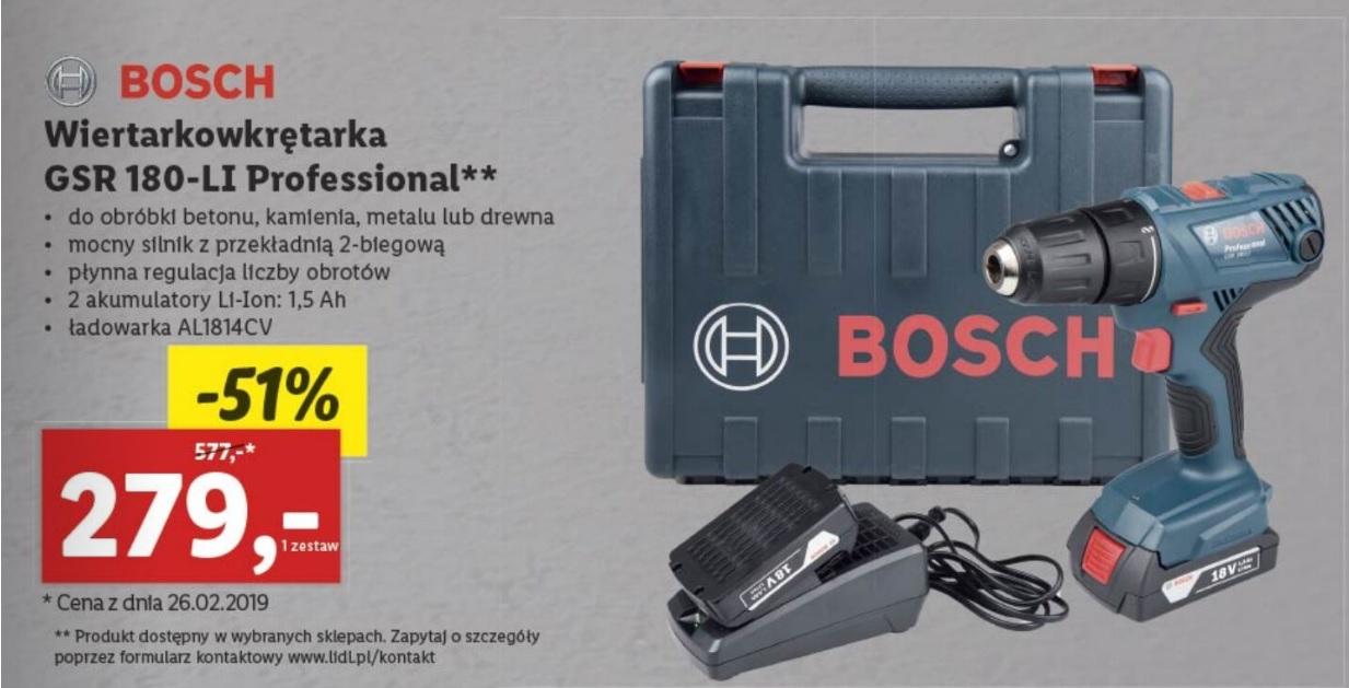 Wiertarko-wkrętarka Bosch GSR 180-LI Professional LIDL