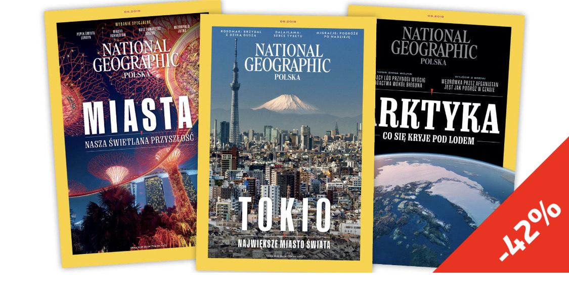 National Geographic roczna prenumerata ok 40% taniej (możliwe gratisy: kapelusz, plecak lub wpinka)