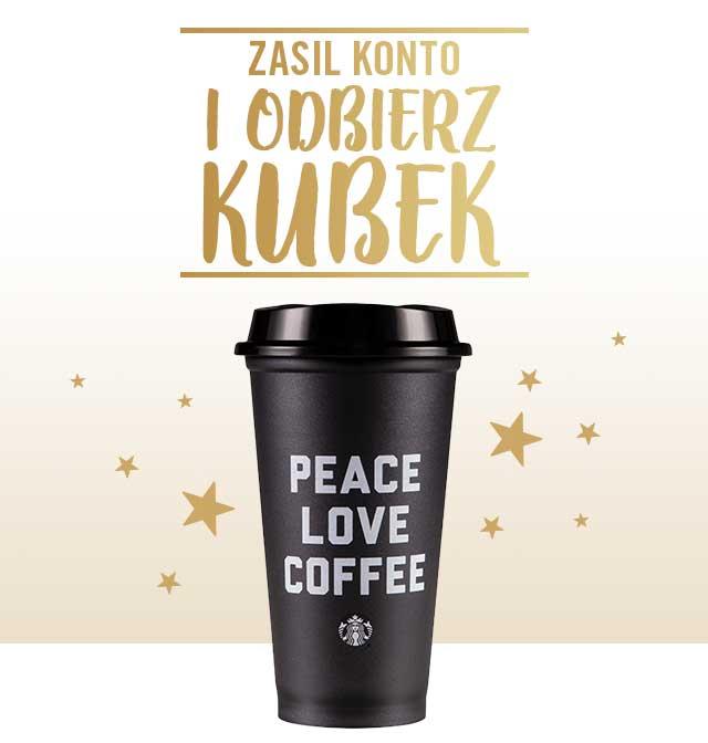 Zasil konto Starbucks Rewards online i odbierz kubek wielokrotnego użytku w prezencie