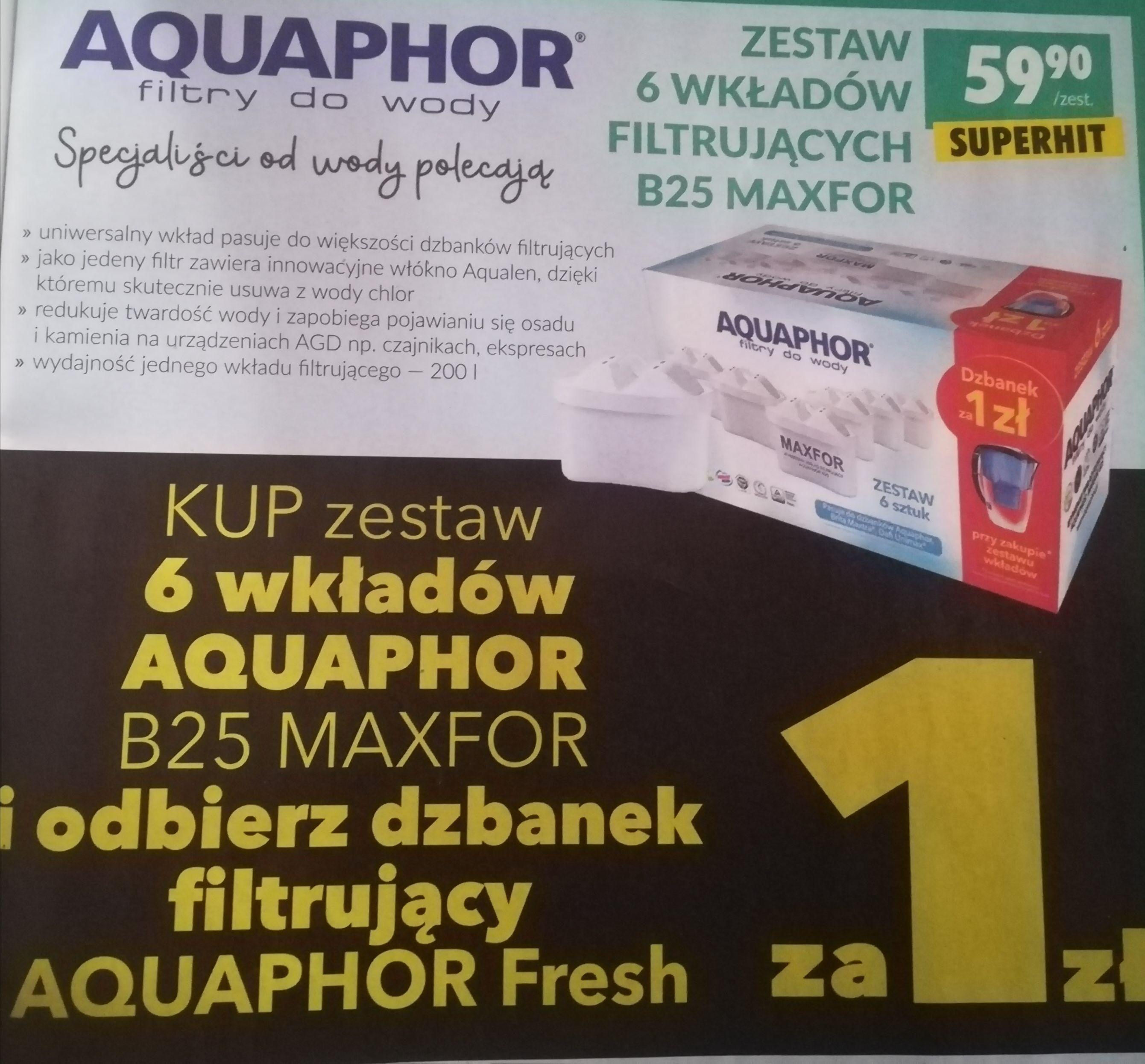 Biedronka Dzbanek Aquaphor 2.8l za 1 zł przy zakupie wkładów