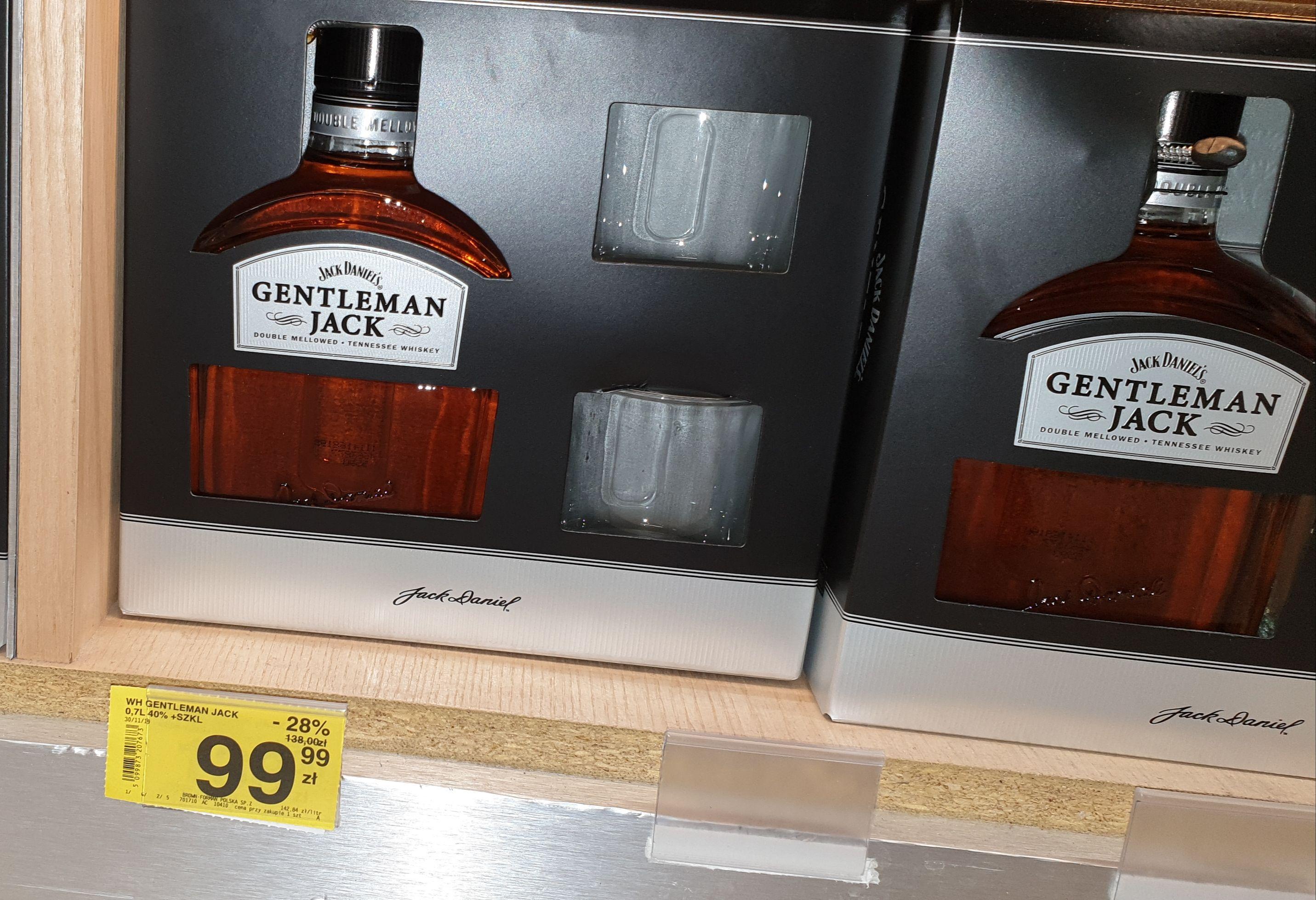 Gentleman Jack 0.7L + szklanki @Carrefour