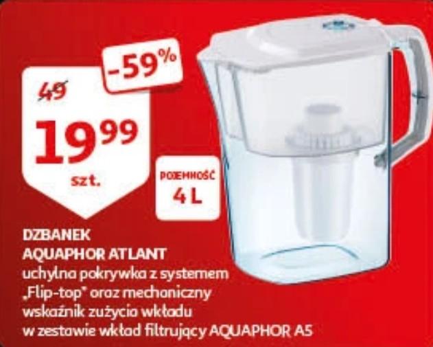 Dzbanek Aquaphor Atlant 4l - wskaźnik zużycia filtra + wkład na 350L