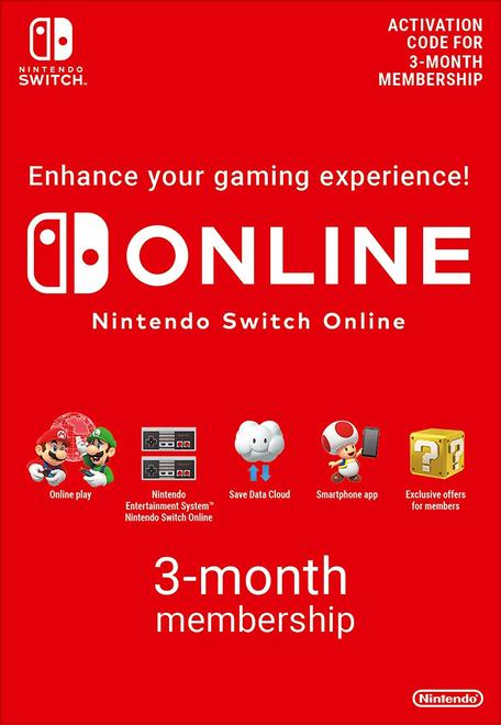 3 miesiące Nintendo Switch Online