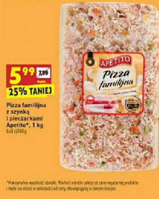 Pizza familijna Apetito 1kg Biedronka