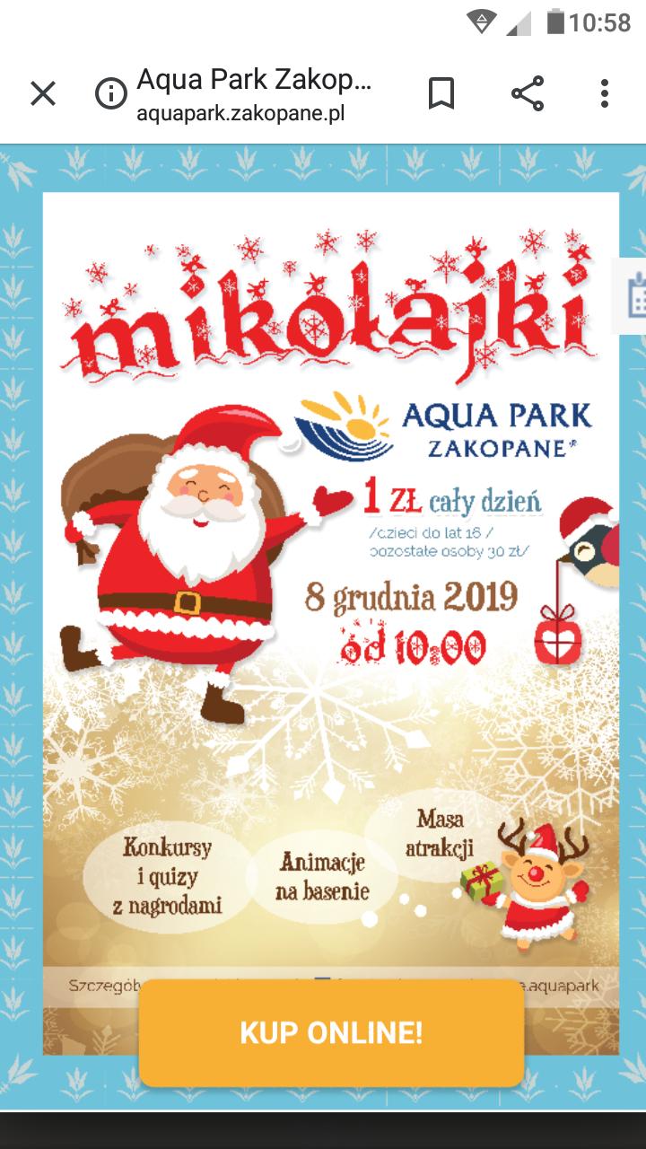 Mikołajkowa promocja w Aqua Park Zakopane