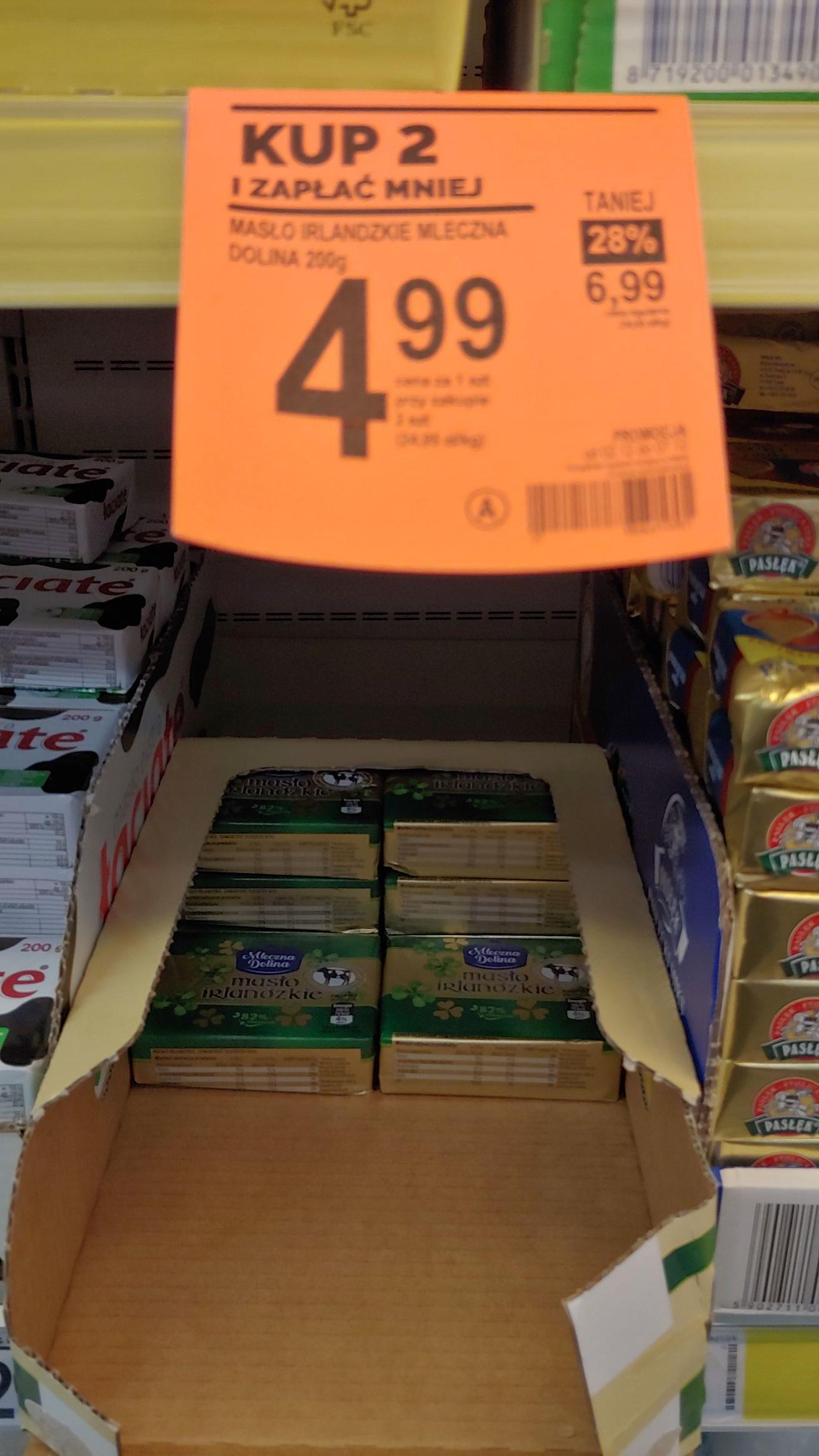 Masło Irlandzkie Biedronka, cena przy zakupie 2 szt.
