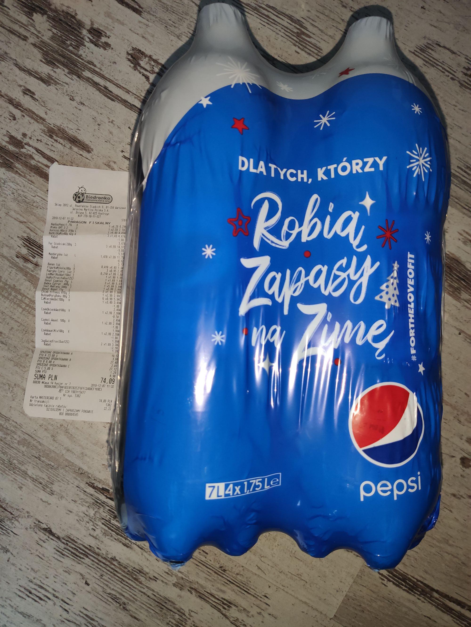 Pepsi 4,29zł/4szt
