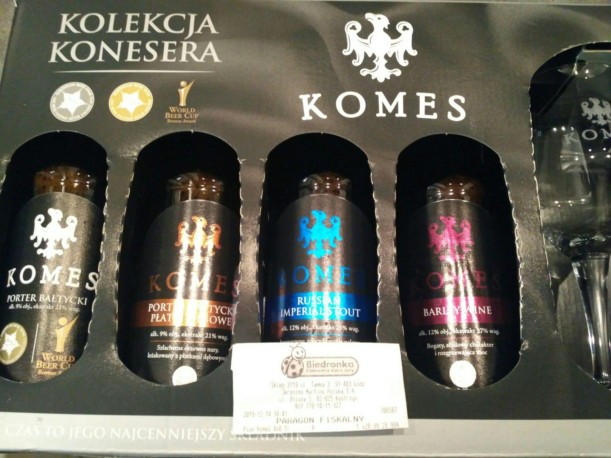 KOMES - 4 x 0,5L + TEKU 2.0 ZESTAW @ Biedronka