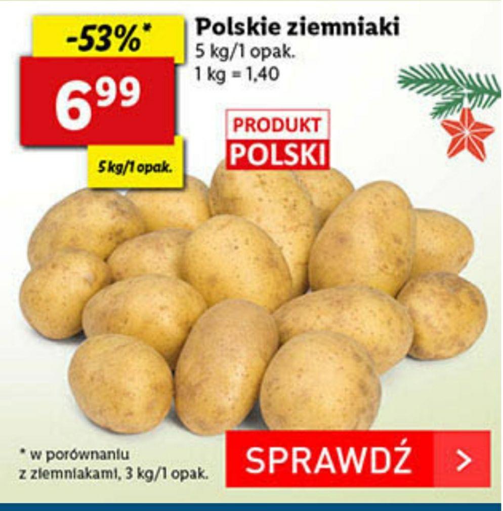 Lidl, polskie ziemniaki za 6.99 zł / 5 kg.