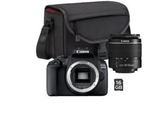 Aparat CANON EOS 2000D + Obiektyw 18-55mm + Torba + Karta pamięci