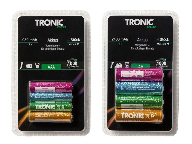 TRONIC zestaw 4 akumulatorków AA/AAA Lidl