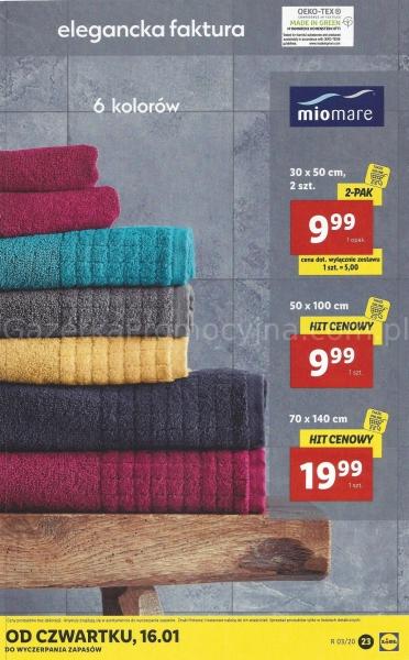 Lidl - ręczniki 100% bawełna 50x100cm