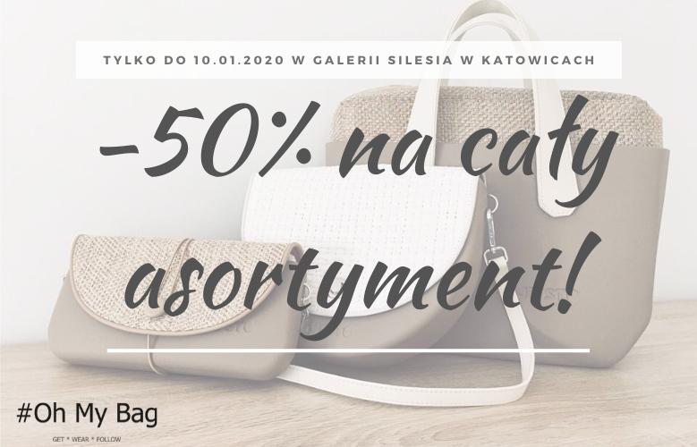 Likwidacja stoiska - 50% rabatu na torebki O bag (Katowice, SCC)