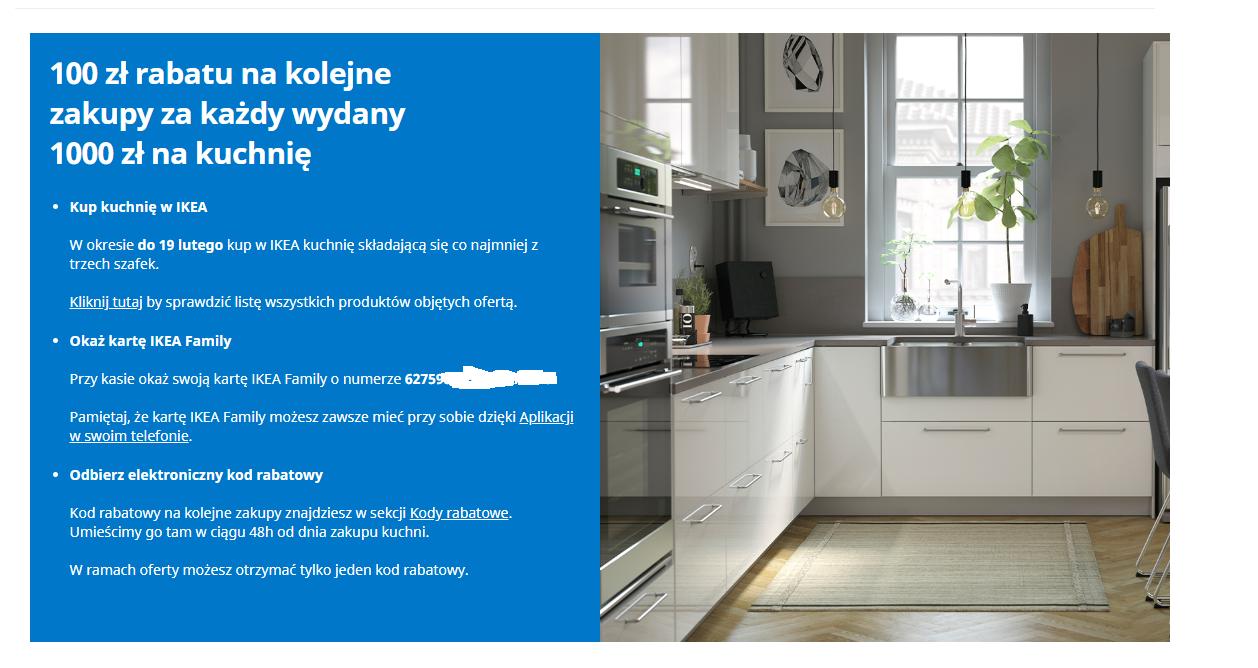IKEA bon 100zł za każde wydane 1000zł na kuchnię!