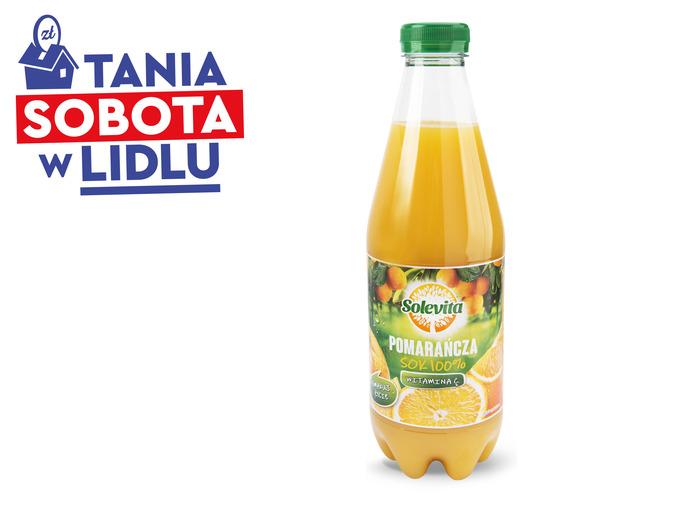 Lidl, sok pomarańczowy Solevita za 2,09 zł/l