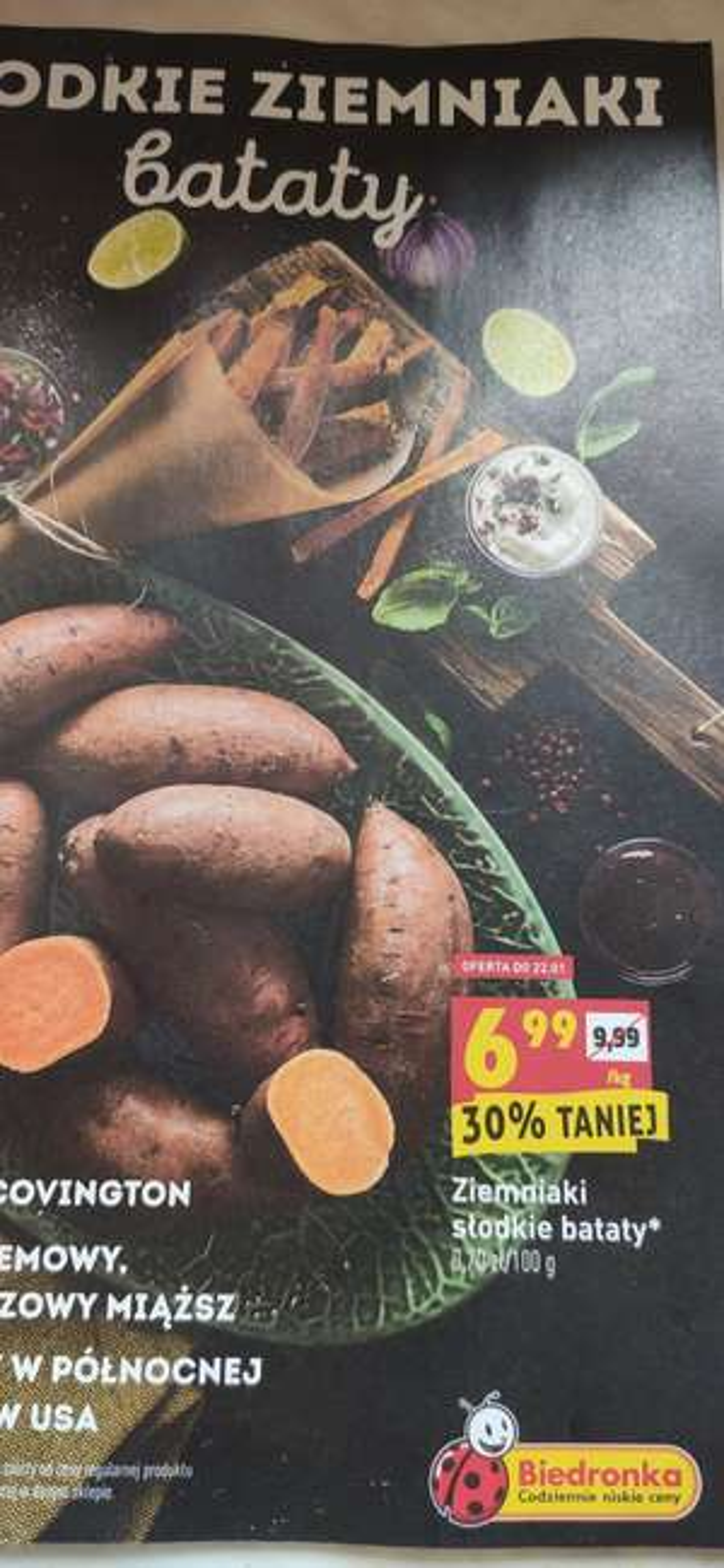 Bataty - słodkie ziemniaki Biedronka