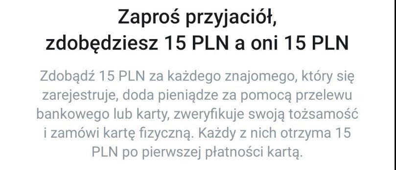 Revolut zaproś znajomych a otrzymacie po 15 PLN