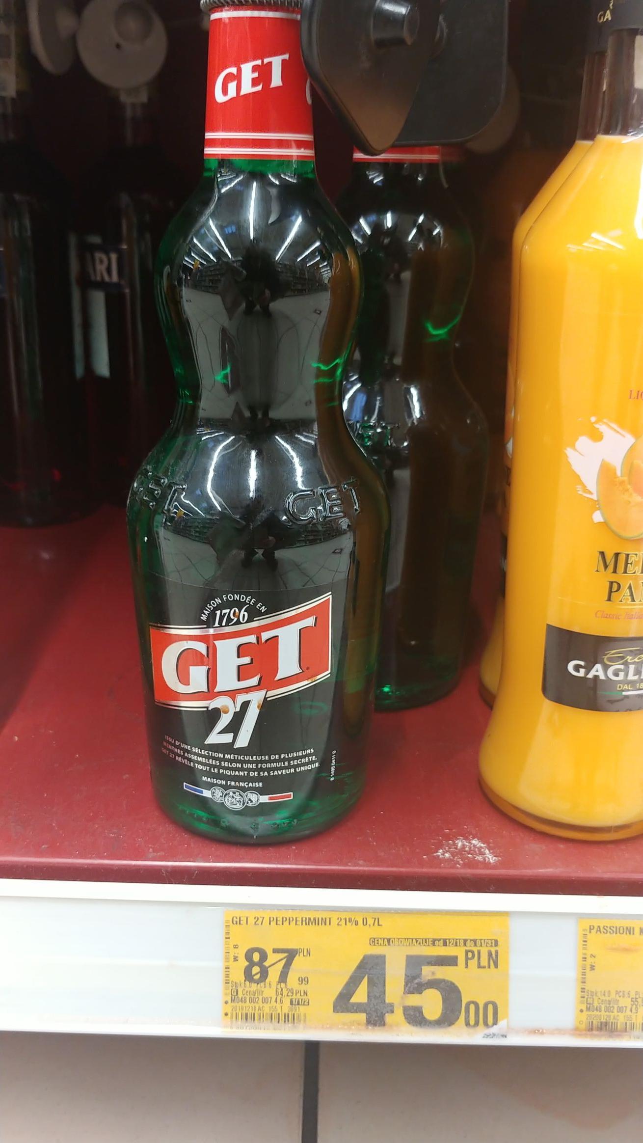 Likier miętowy Get 27 @ Auchan Bydgoszcz