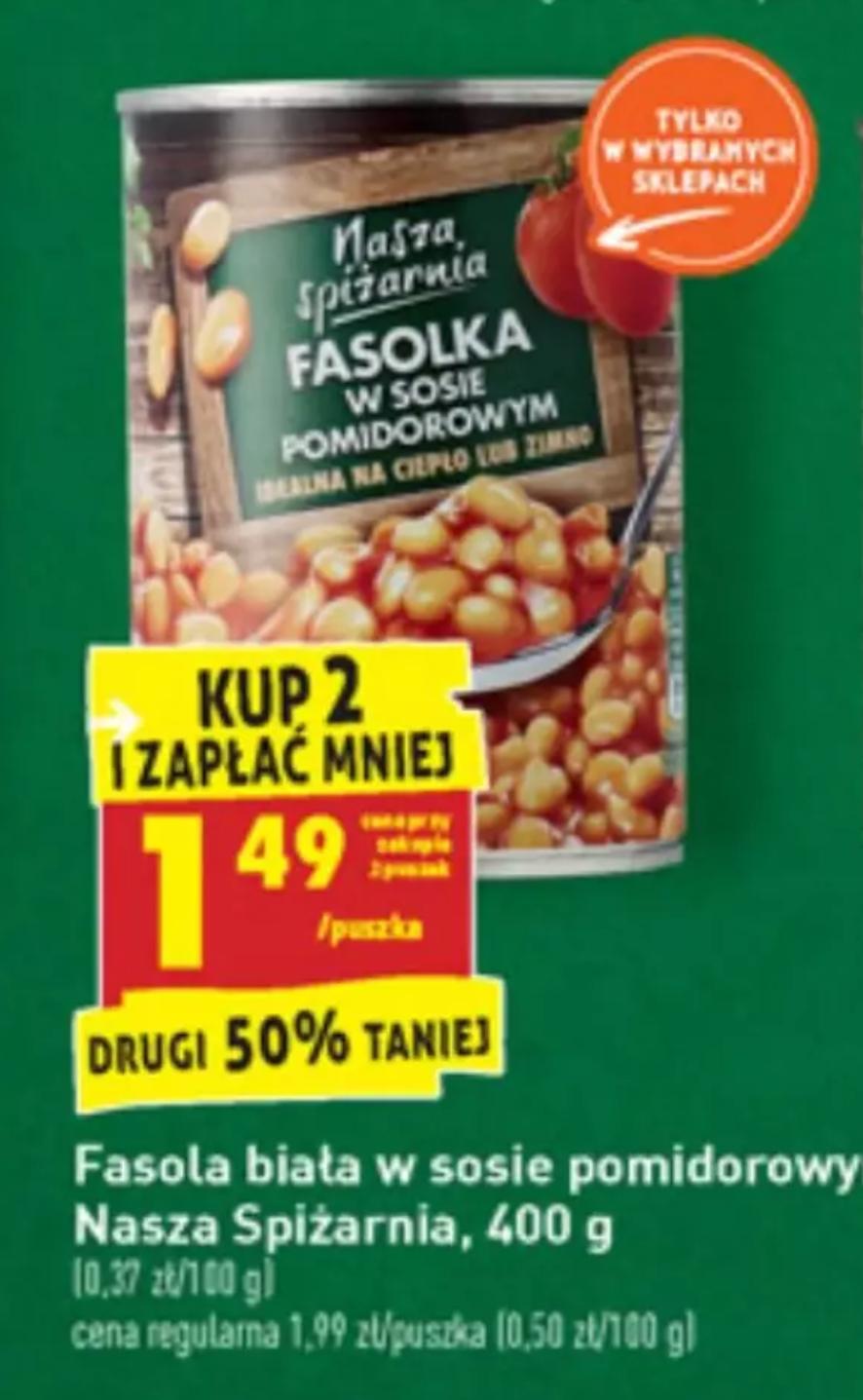 Fasolka w sosie pomidorowym 400g - Biedronka