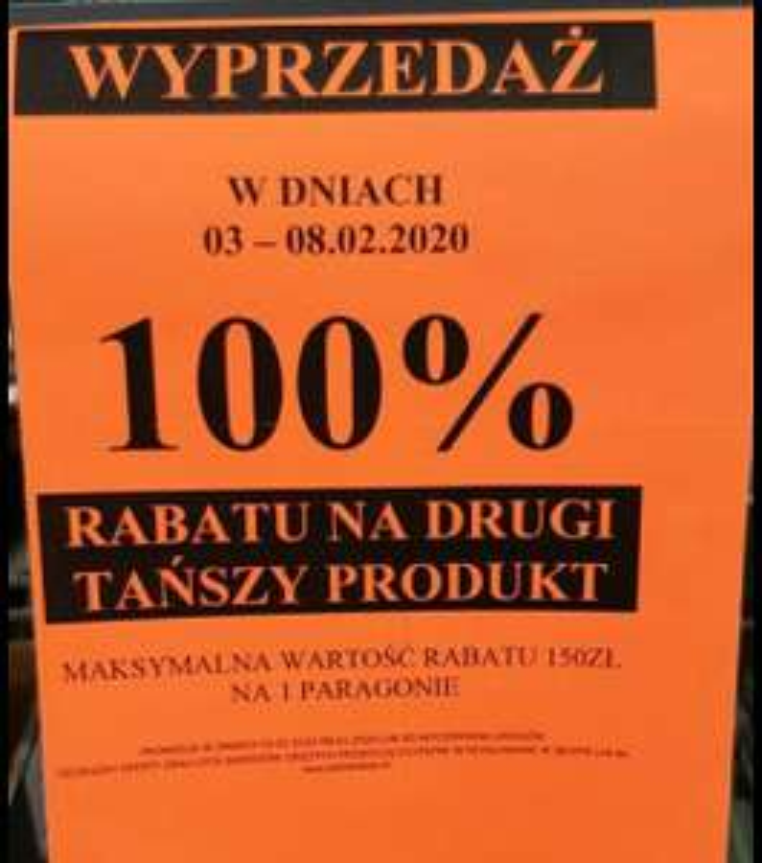Biedronka, promocja 100% rabatu na drugi produkt w wybranych biedronkach