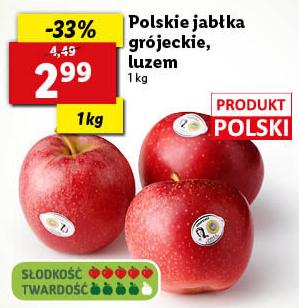 Polskie słodkie jabłka w Lidl