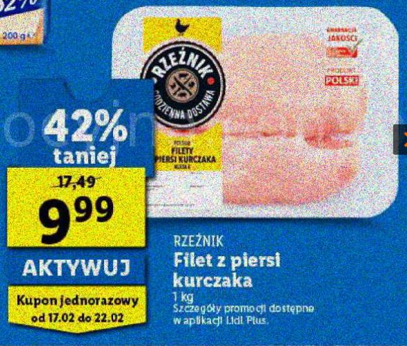 LIDL: Filet z piersi kurczaka 1kg (LIDL PLUS)