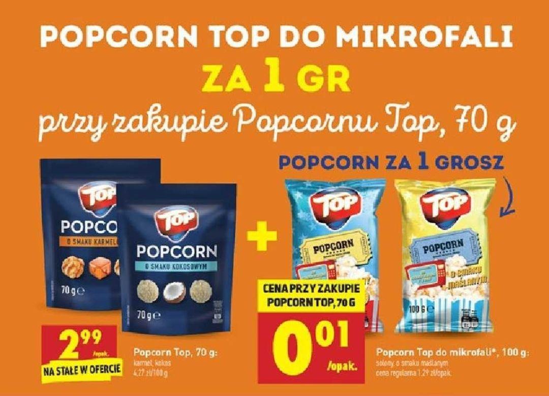 Popcorn do mikrofali za 1grosz przy zakupie Popcorn Karmelowy/Kokosowy - Biedronka