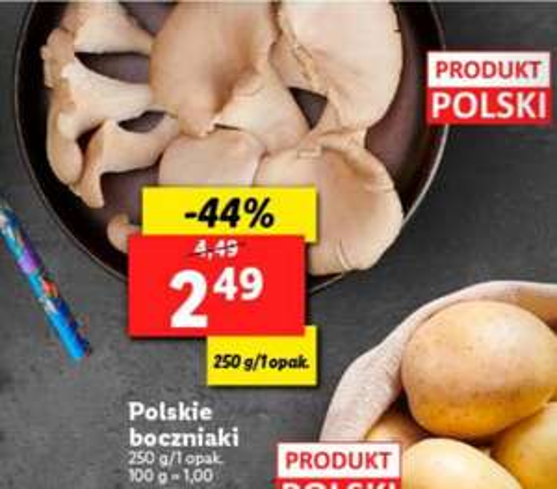 Boczniaki za 2,49 zł Lidl