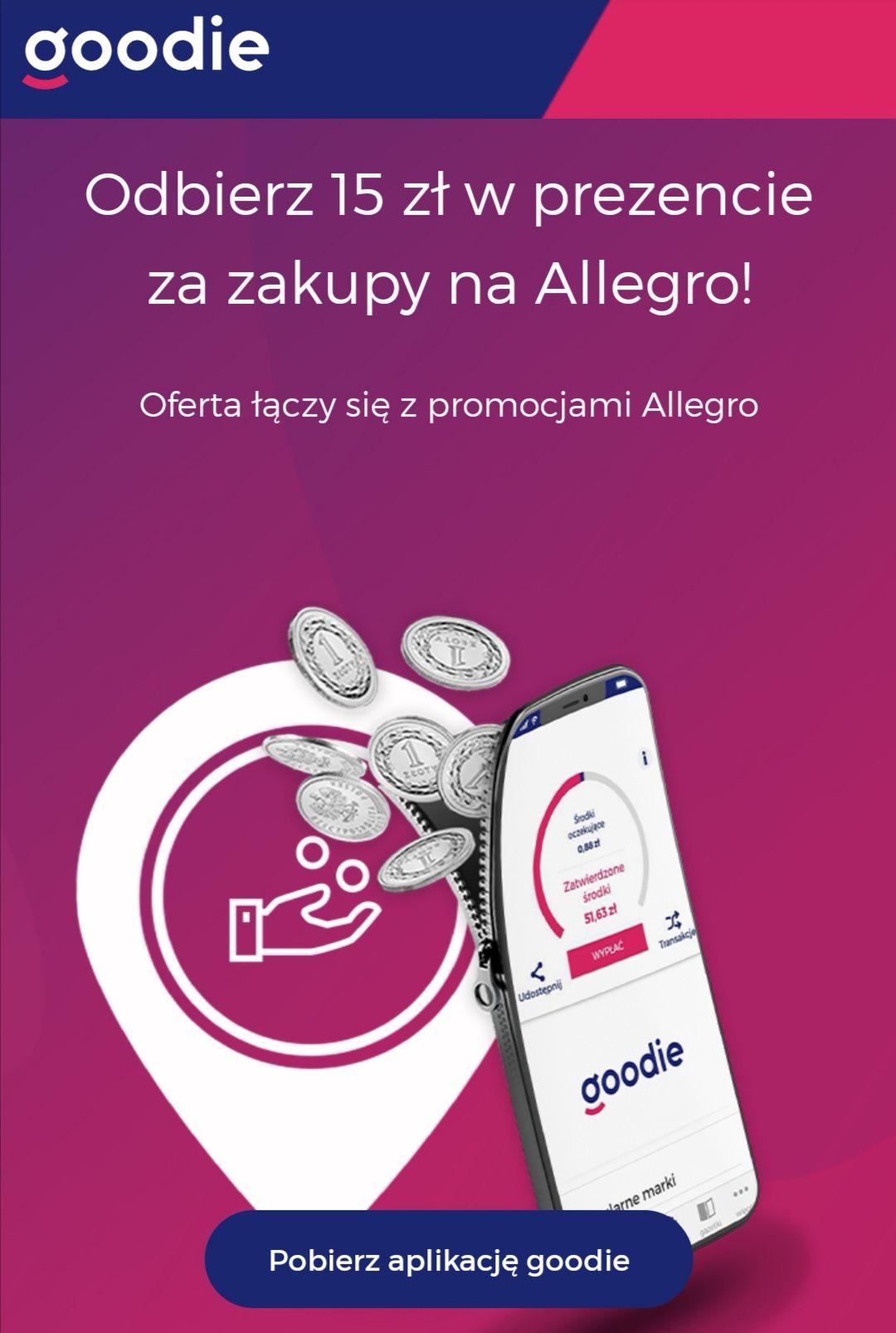 Goodie - cashback 15zł Allegro (dla nowych)