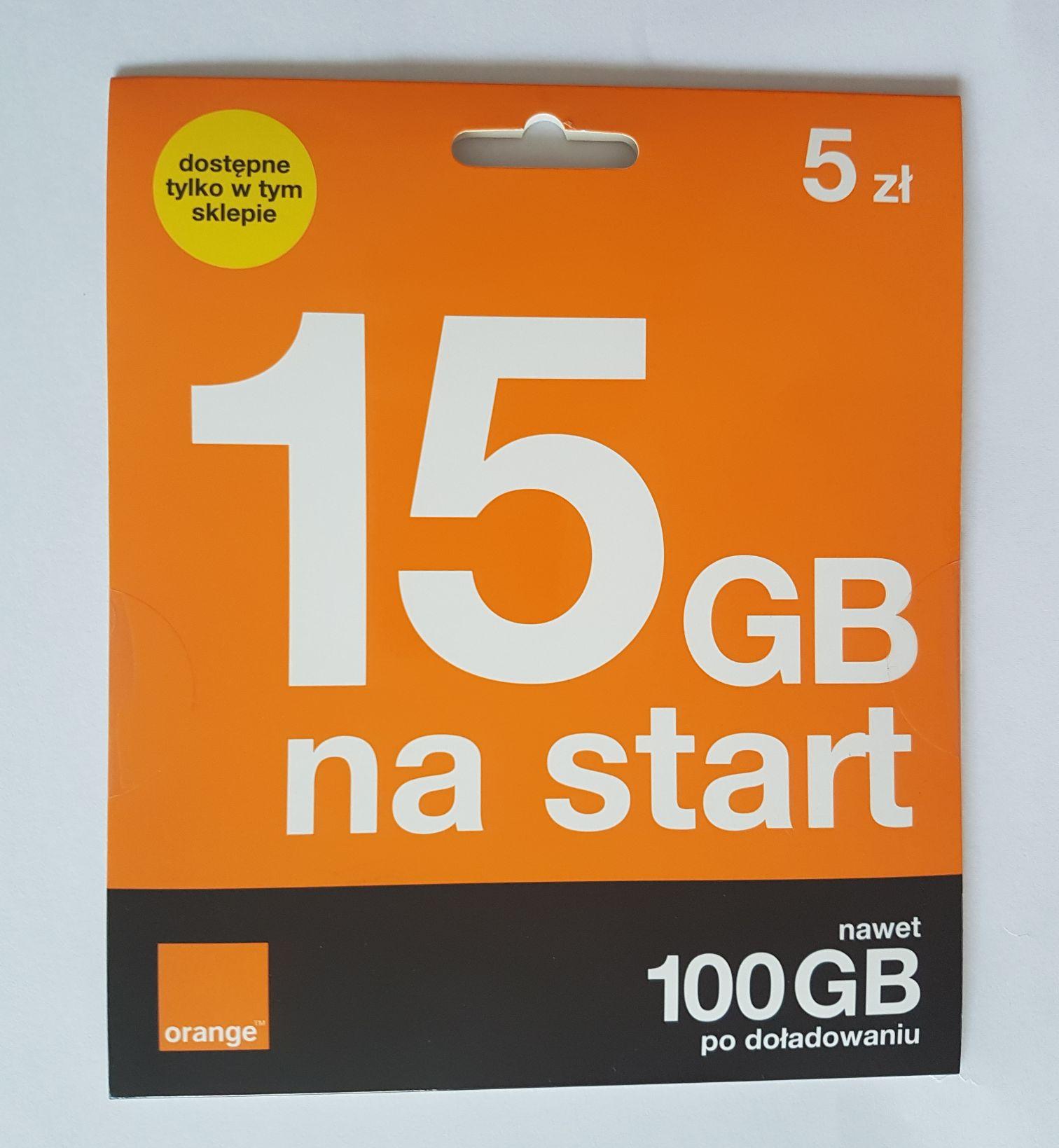 Starter Orange za 5 zł z bonusem 15 GB w sklepach Żabka. Promocja obowiązuje do 31 marca 2023.