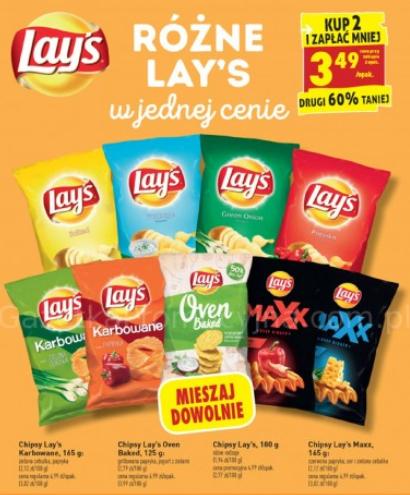 BIEDRONKA: Chipsy Lays przy zakupie 2 sztuk