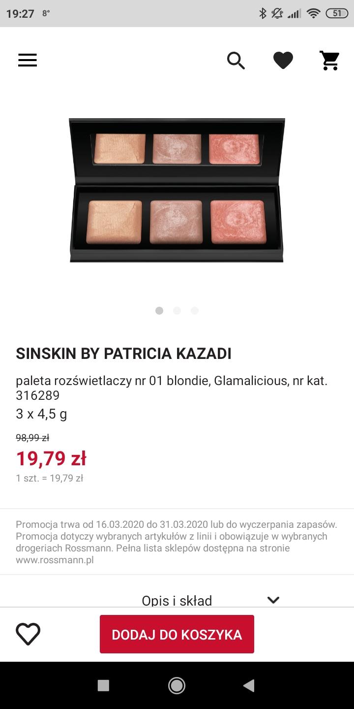 Sinskin by Patricia Kazadi -80% w Rossmannie