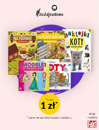 Pakiet 5 książeczek dla dzieci - 1 zl #zostajewdomu